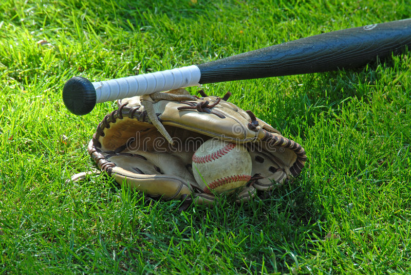 Bat,Ball, and Glove stock photo