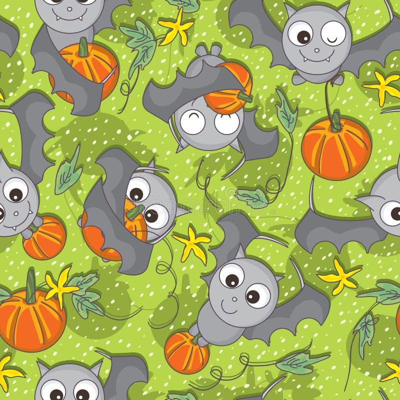 Free Bat Bring Pumpkin Seamless Pattern_eps Royalty Free Stock Image - 35836086