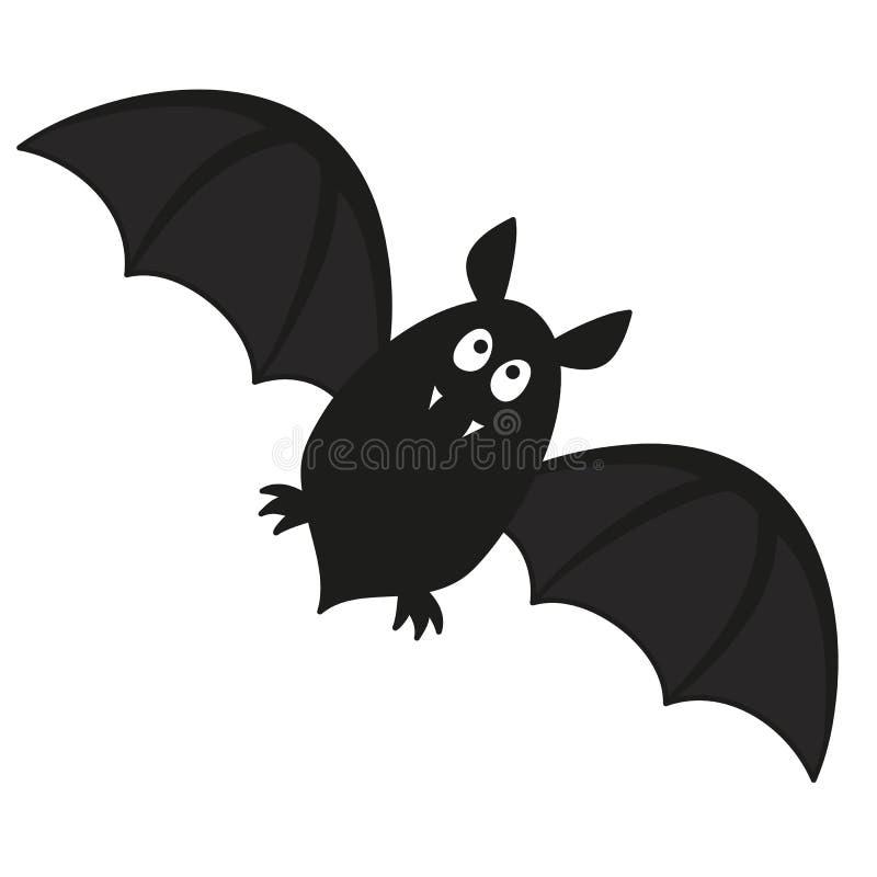 Bat. Cute flying bat with fangs vector illustration vector illustration