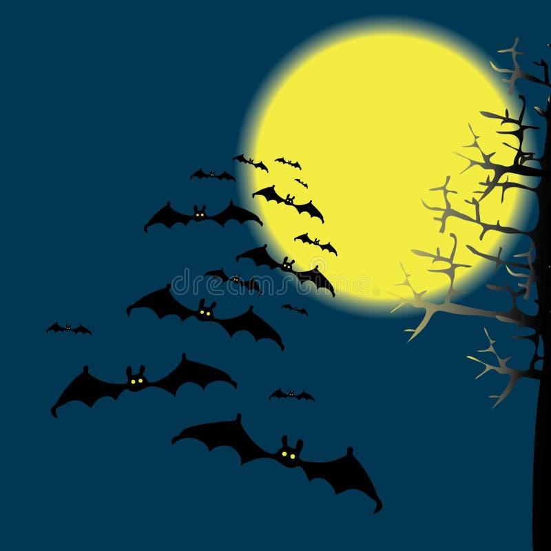 'bat' dans le ciel de nuit illustration libre de droits