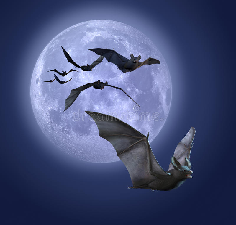 'bat' de clair de lune illustration stock