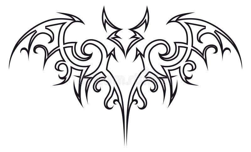 'bat' de tatouage. illustration libre de droits