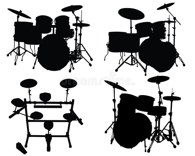 Bat du tambour des kits illustration libre de droits