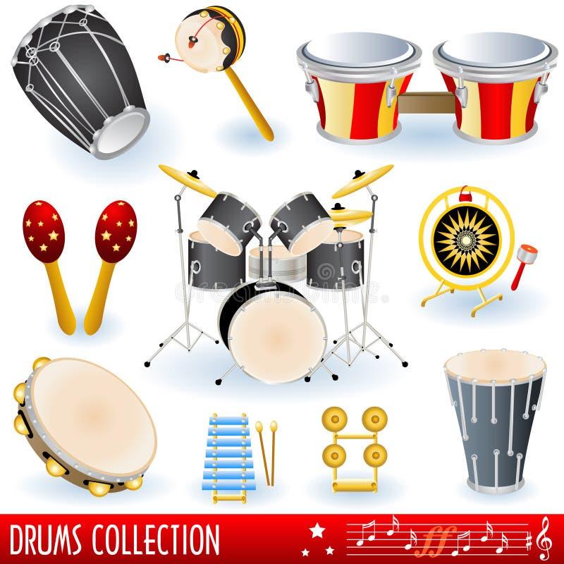 Bat du tambour du ramassage de musique illustration libre de droits
