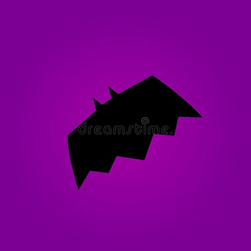 Bat icon on the violet background. Vector illustration. royalty free illustration