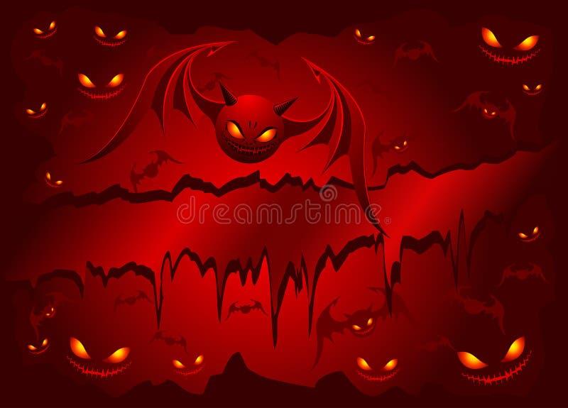 'bat' mauvaises sur le fond rouge illustration stock