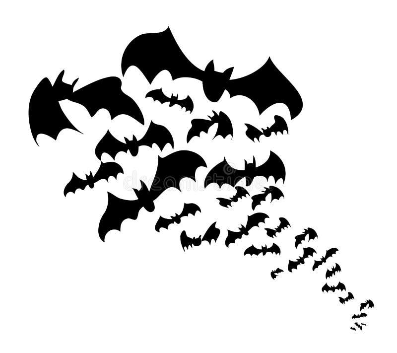 'bat' noires illustration libre de droits