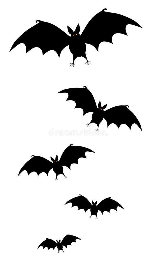 'bat' noires pilotant le clipart (images graphiques) illustration de vecteur