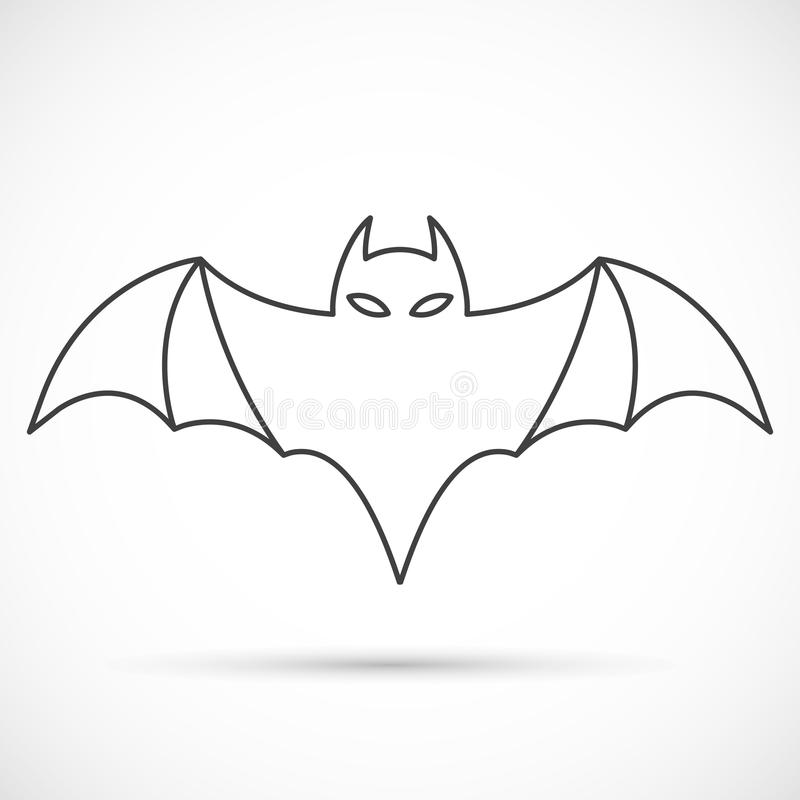 download bat outline icon stock vector illustration of holiday 79104571 - Bat Outline