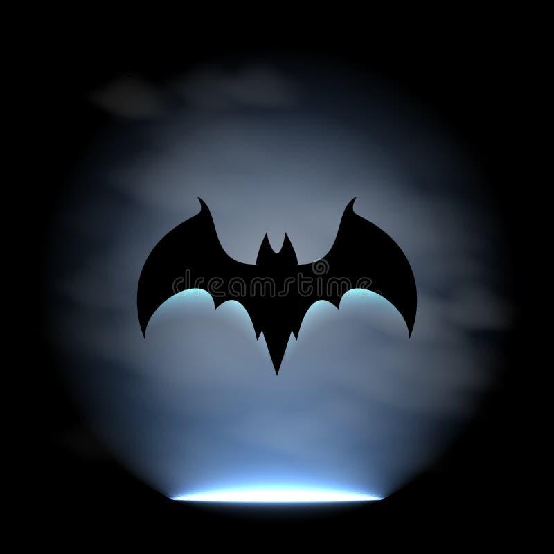 Bat sign. Vector illustration 4 your design, eps10 4 layers royalty free illustration