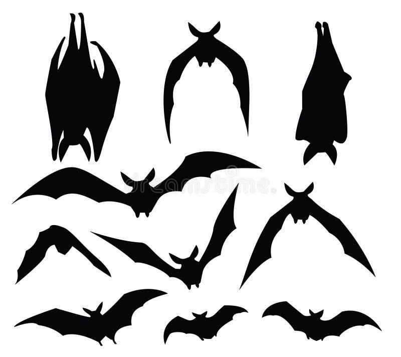 Bat silhouette royalty free illustration