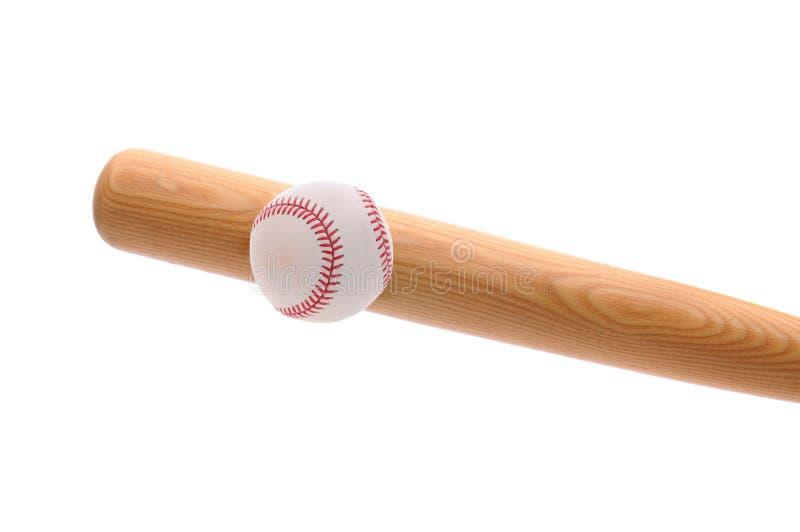 Bat striking baseball royalty free stock photography