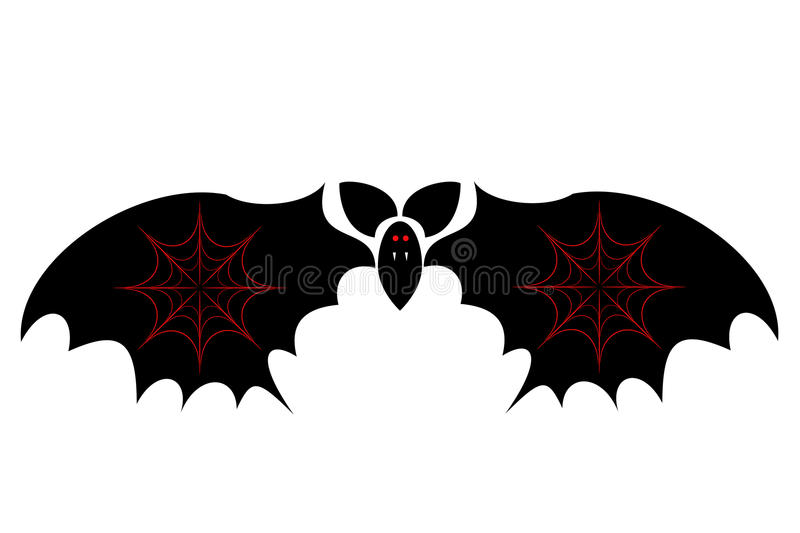 Download Bat the vampire stock vector. Image of isolated, curve - 10830989