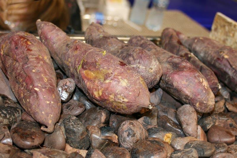 Bataat, grill bataat stock fotografie