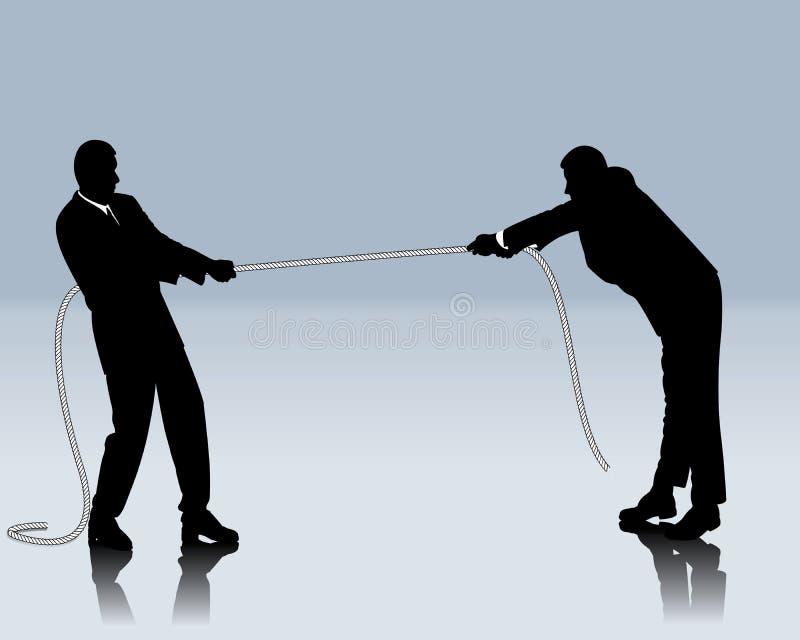 Bataille concurrentielle illustration libre de droits