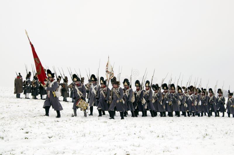 Bataille d'Austerlitz photo stock