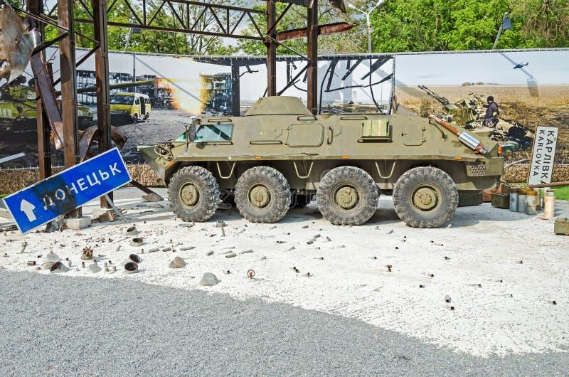Bataille dans l'aéroport de Donetsk photographie stock libre de droits
