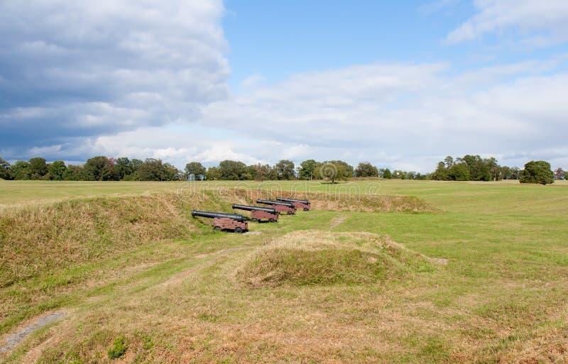 Bataille de champ de bataille de Yorktown photographie stock libre de droits