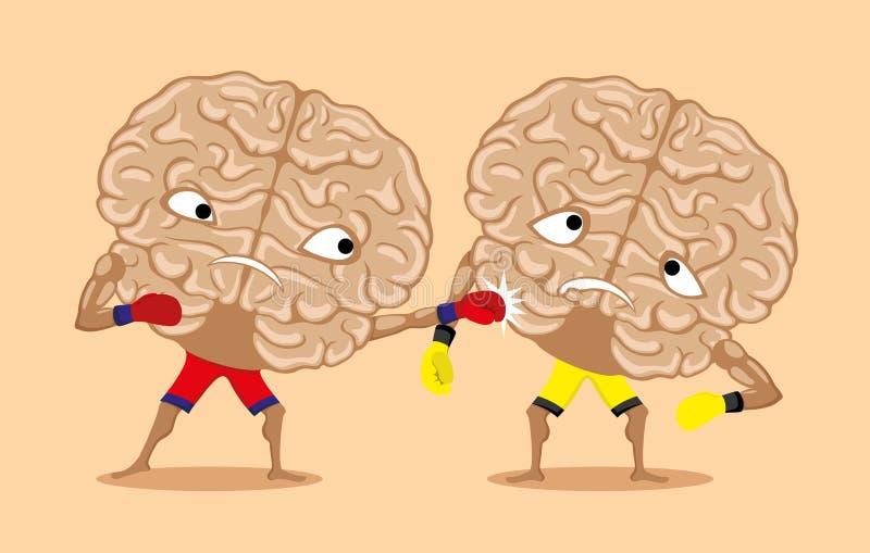 Bataille des cerveaux illustration de vecteur