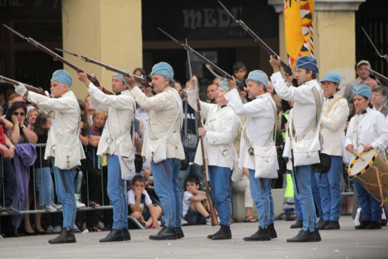 Bataille du magenta 2012 photographie stock