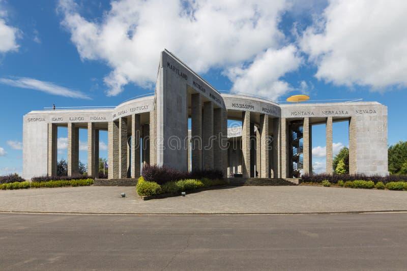 Bataille du Saillant WW2 commémorative américaine à Bastogne, Belgique image stock