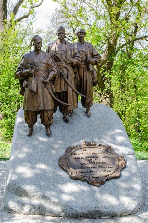 Bataille pour le monument ukrainien Leopoldsberg de Cosaques de Vienne photos stock