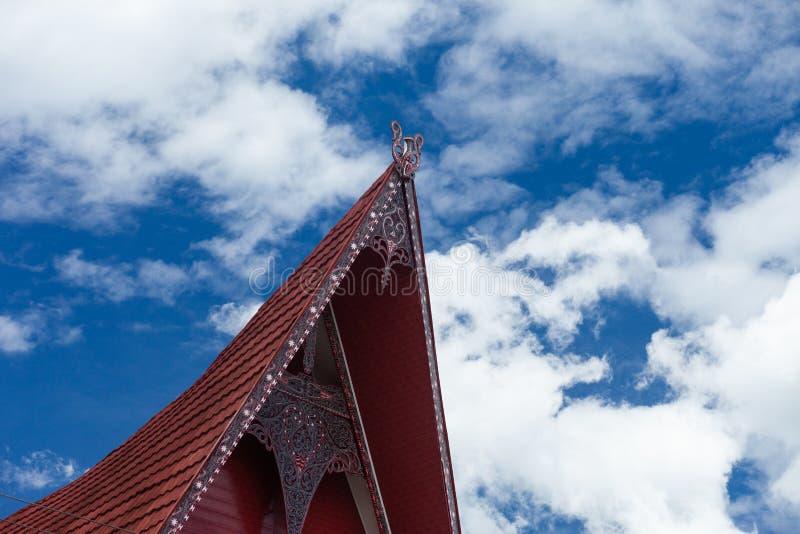 Batak apontou o telhado imagem de stock