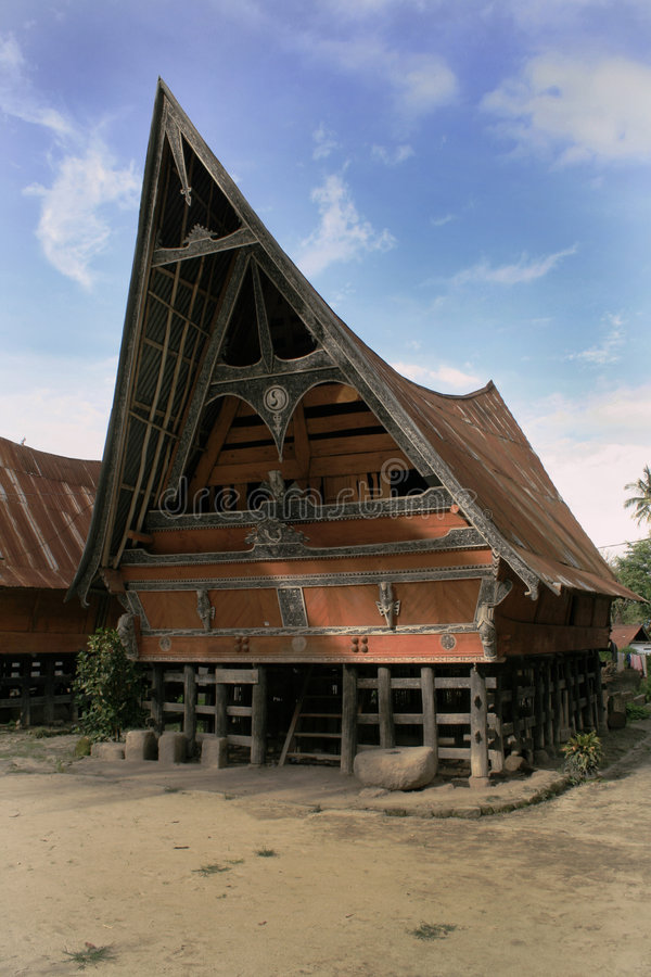 Batak traditionelles Haus stockfotos