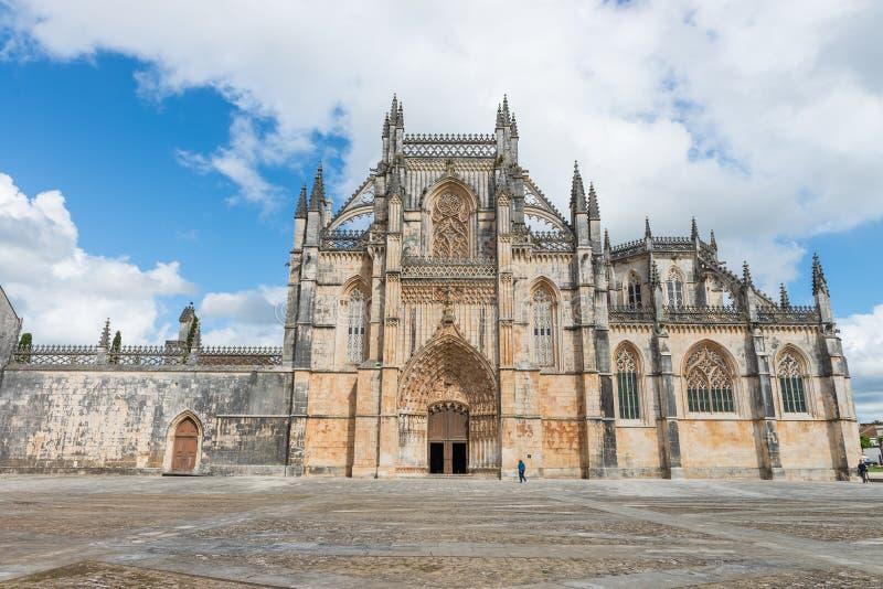 Batalha圣玛丽亚da Vitoria多米尼加共和国的修道院,葡萄牙 库存照片