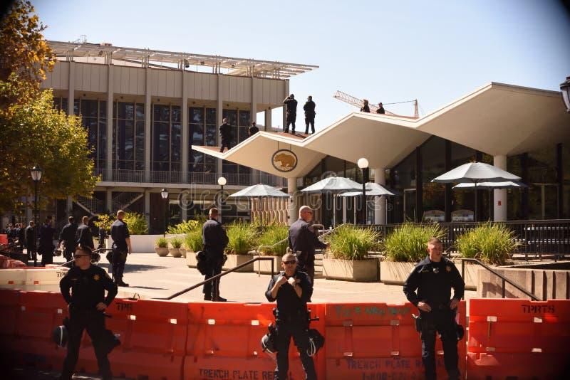 A batalha da liberdade de expressão em Uc Berkeley imagem de stock royalty free