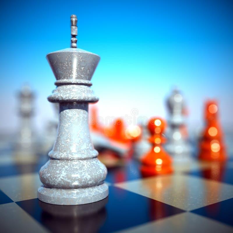Batalha da xadrez - derrota ilustração royalty free