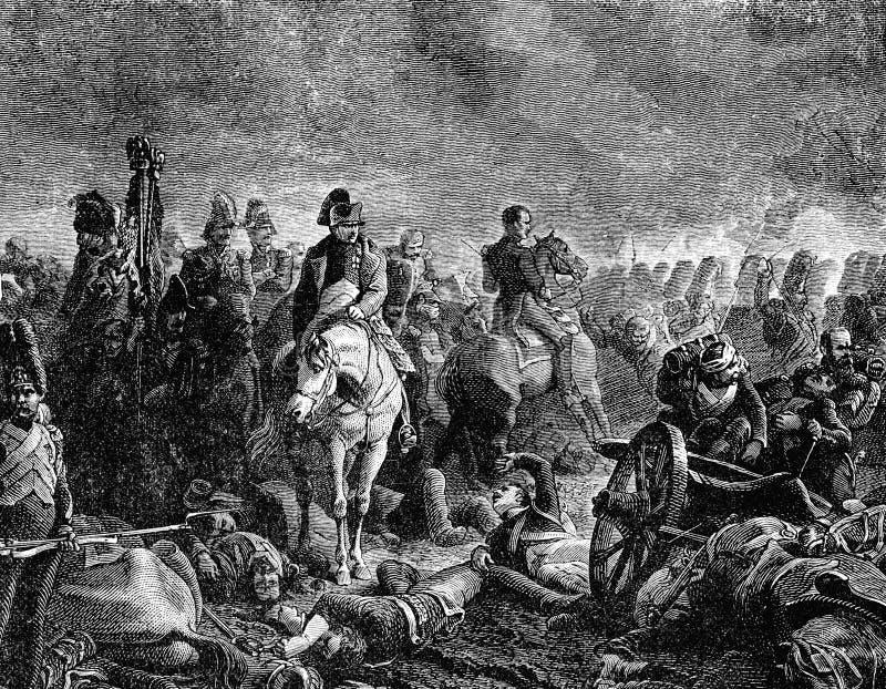 Batalha de Waterloo ilustração stock