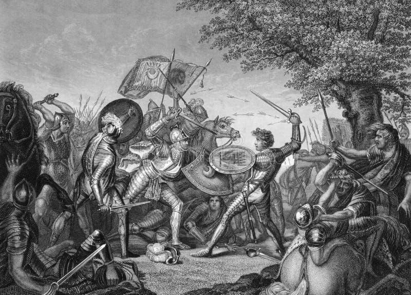 Batalha do monte de Humbleton imagem de stock royalty free