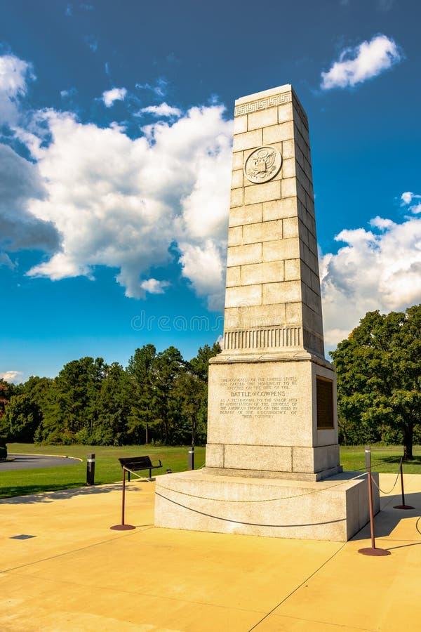 Batalha do monumento de Cowpens fotografia de stock