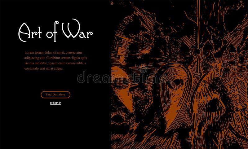 Batalha dos cavaleiros para seu design web ilustração royalty free