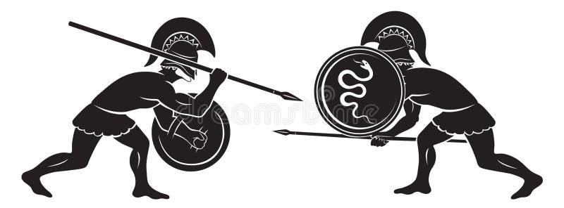 Batalha dos gladiadores ilustração royalty free