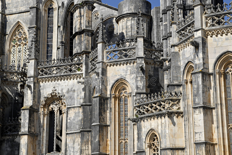 Batalha gothic monastery in Portugal. royalty free stock photo