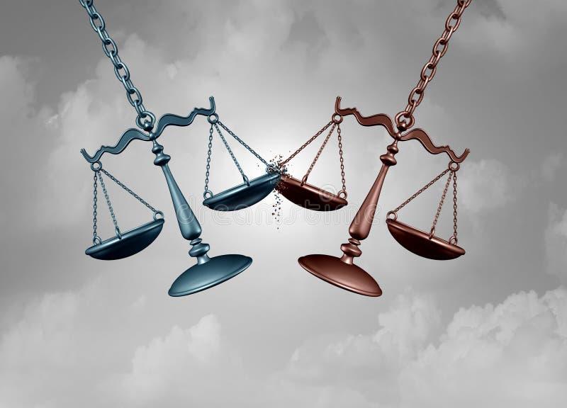 Batalha judicial e processo legal ilustração royalty free