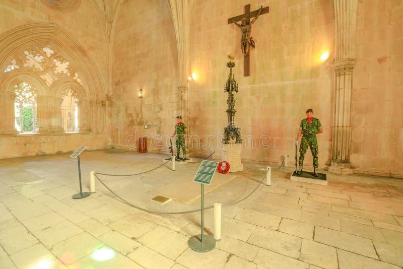 Batalha klostervakter av gravvalvet arkivbilder