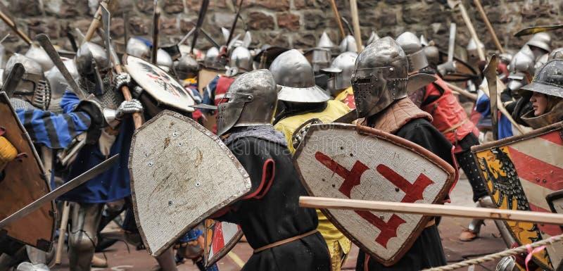 Batalha medieval imagem de stock royalty free