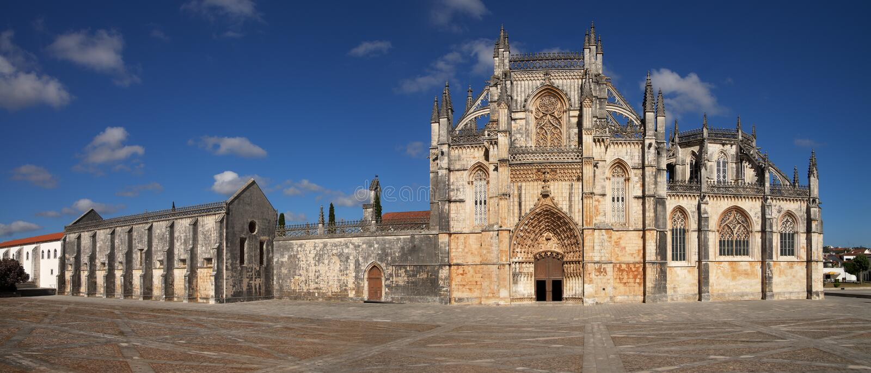 Batalha monastery facade. stock image