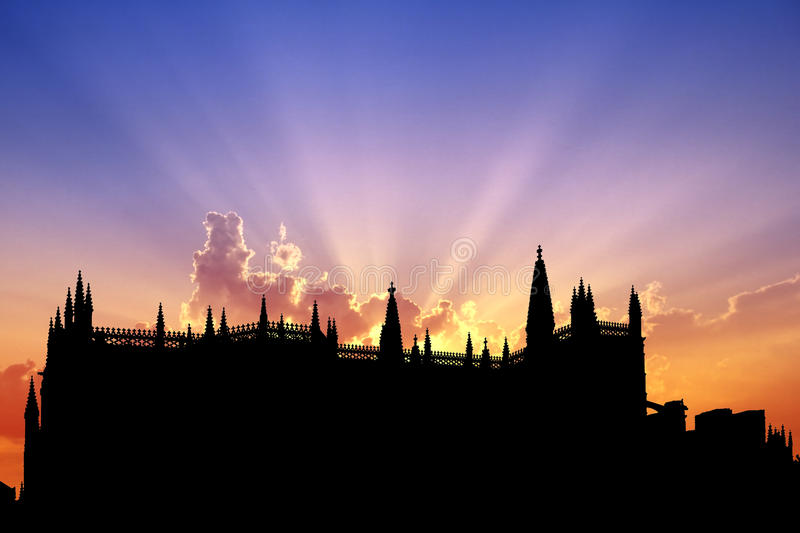 Download Batalha Monastery sunset stock photo. Image of style - 17826156