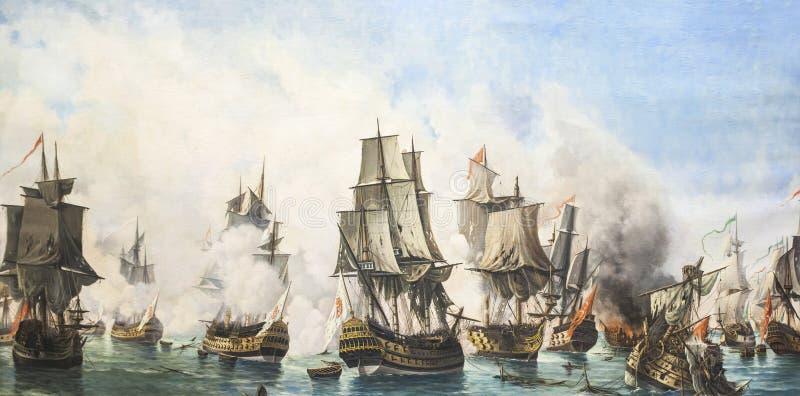 Batalha Naval de Matapan, 1717 fotografia de stock