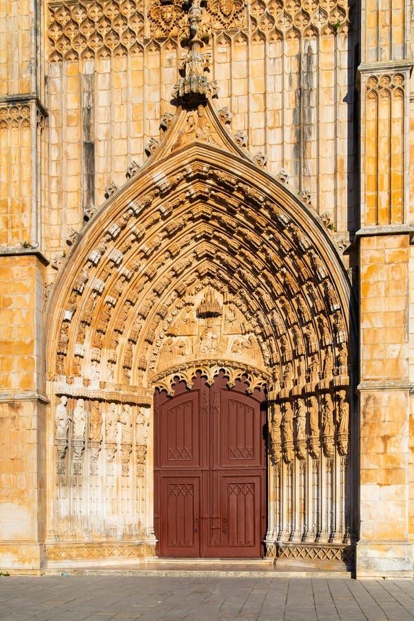 Batalha, Portogallo Monastero del monastero di Batalha aka di Santa Maria da Vitoria Vista del Capelas Imperfeitas Gotico e fotografia stock