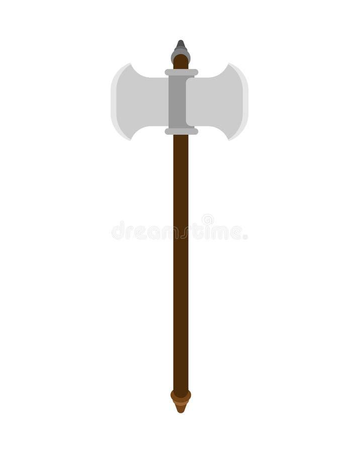 Batalistyczna ax broń odizolowywająca Dwoisty ostrze Stara średniowieczna cioska dla wa royalty ilustracja