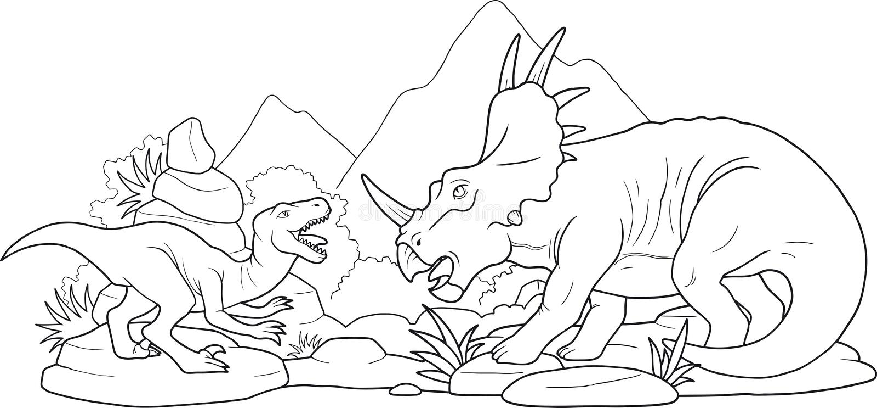 Batalistyczni dinosaury ilustracja wektor