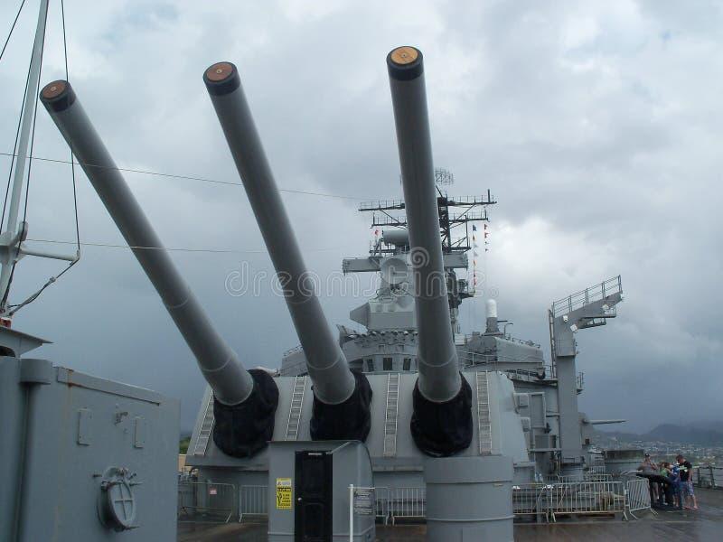 Batalistyczni statków pistolety zdjęcia royalty free