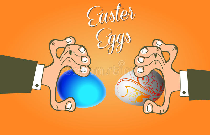 Batalistyczni Wielkanocni jajka fotografia stock