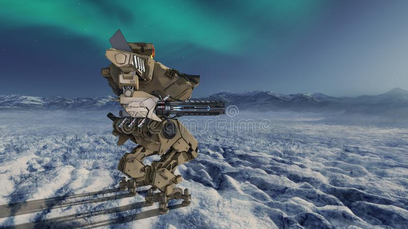 Batalistyczny robot royalty ilustracja
