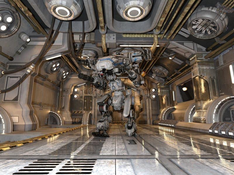 Batalistyczny robot obrazy stock